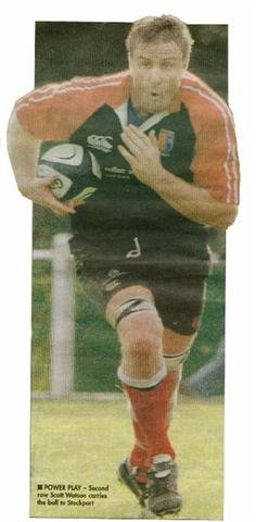 Scott Watson Plays Rugby For Chester RUFC
