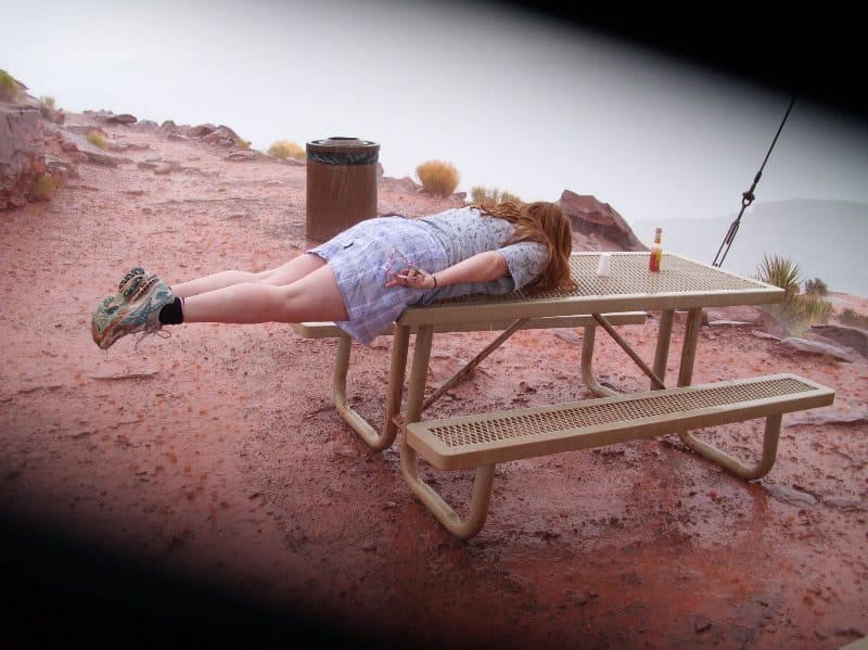 Alexandra Wickfree Goes Planking at the Grand Canyon