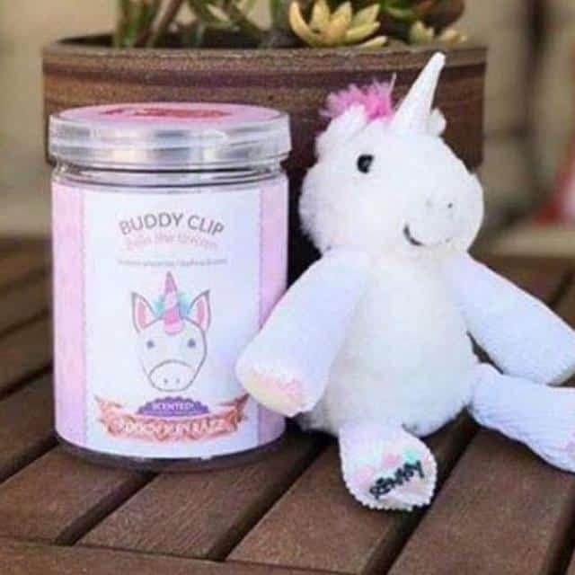 Unicorn Teddy - Clip on Soft Rainbow Unicorn Cuddly Toy - Unicorn Gift Idea