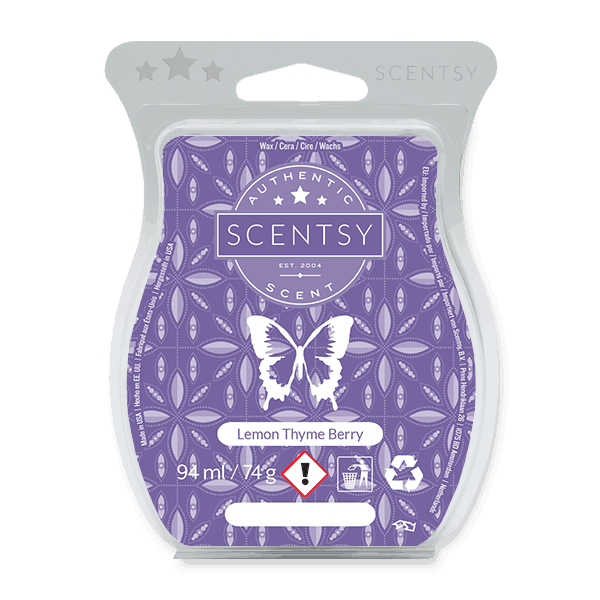 LEMON THYME BERRY SCENTSY WAX BAR