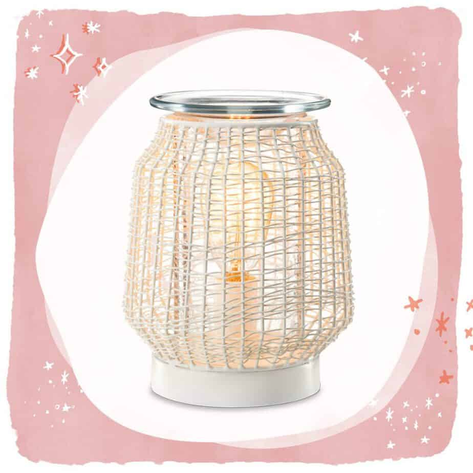 White Wicker Scentsy Wax Warmer - 2019 Scentsy Catalogue