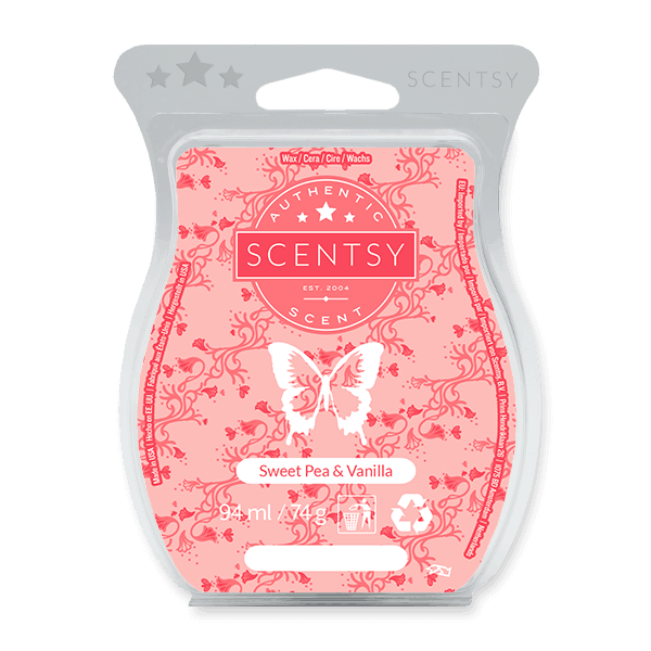 SWEET PEA & VANILLA SCENTSY WAX BAR