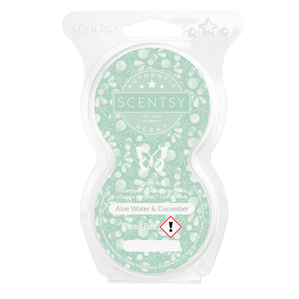 ALOE WATER & CUCUMBER SCENTSY POD TWIN PACK
