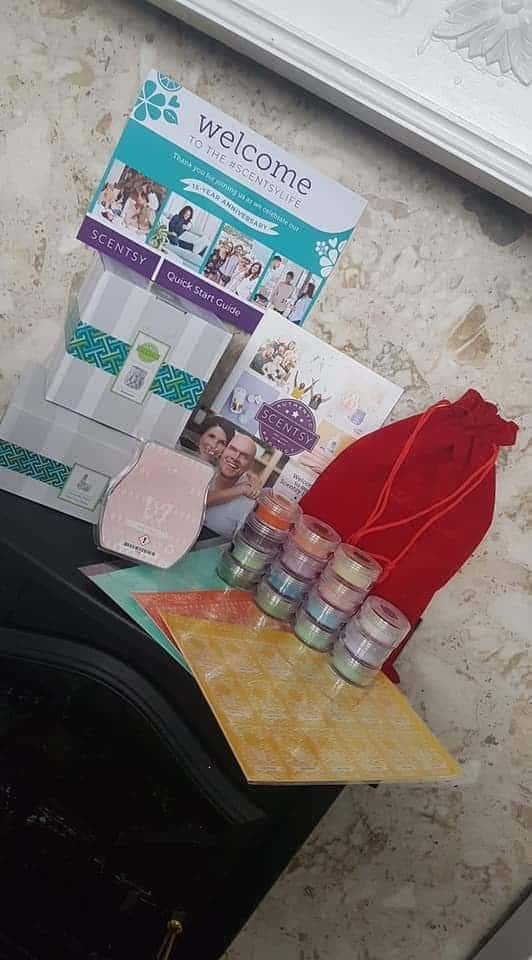 The actual Scentsy anniversary sales kit