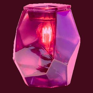 Pink Topaz Scentsy Warmer lit
