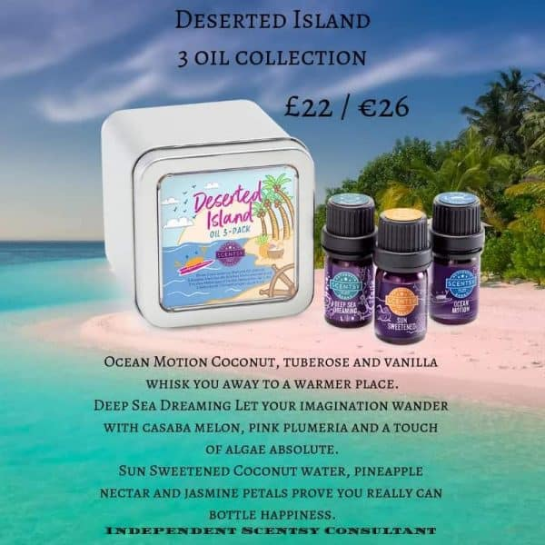 3 scentsy Oils - Desert Island Collection