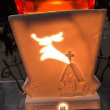 Zero, Jack's Ghost Dog appears on the Jack Skellington, Pumpkin King Scentsy Warmer