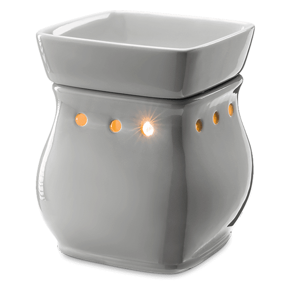 CLASSIC CURVE-GLOSS GRAY SCENTSY WAX WARMER
