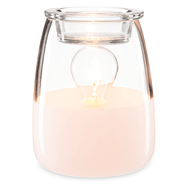 GLASS HALF FULL SCENTSY WAX WARMER