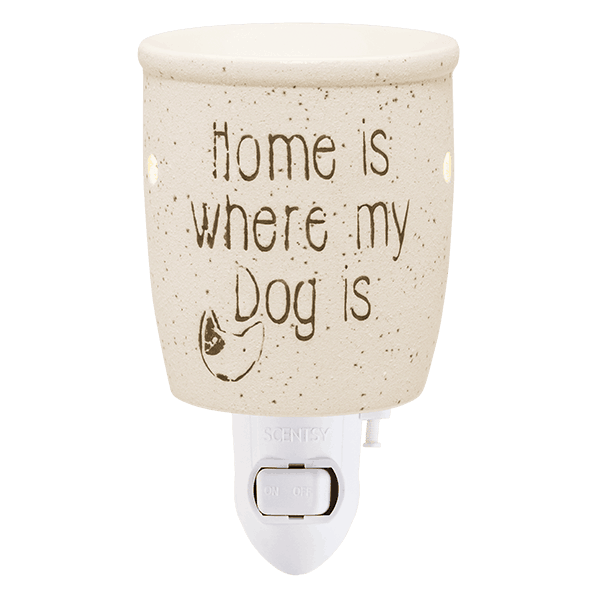 HOME IS WHERE MY DOG IS TABLETOP SCENTSY WAX WARMER
