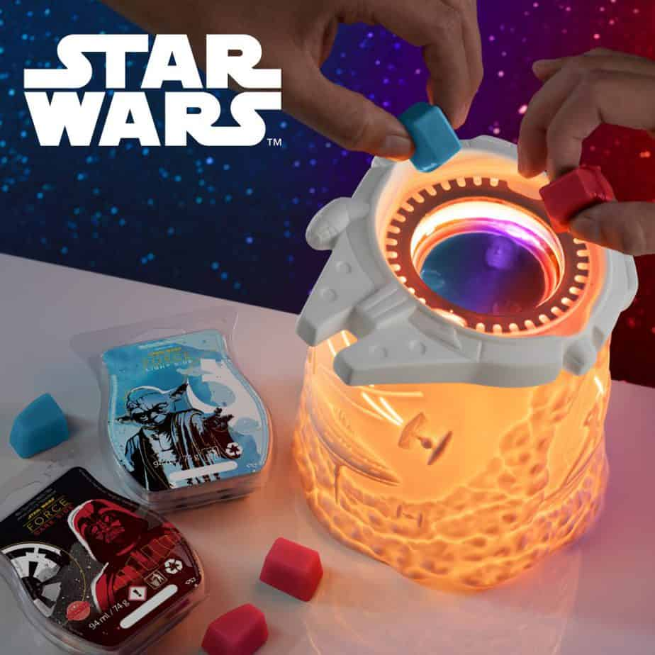 Millennium Falcon™ – Scentsy Warmer + Star Wars™: Light Side of the Force – Scentsy Bar