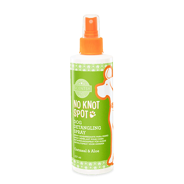 SCENTSY DOG DETANGLING SPRAY - Oatmeal & Aloe No Knot Spot Dog Detangling Spray