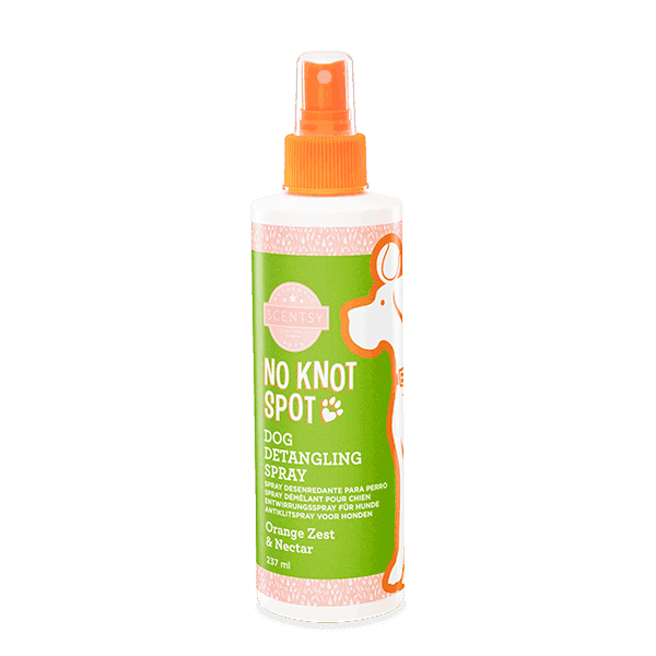 SCENTSY DOG DETANGLING SPRAY - Orange Zest & Nectar No Knot Spot Dog Detangling Spray