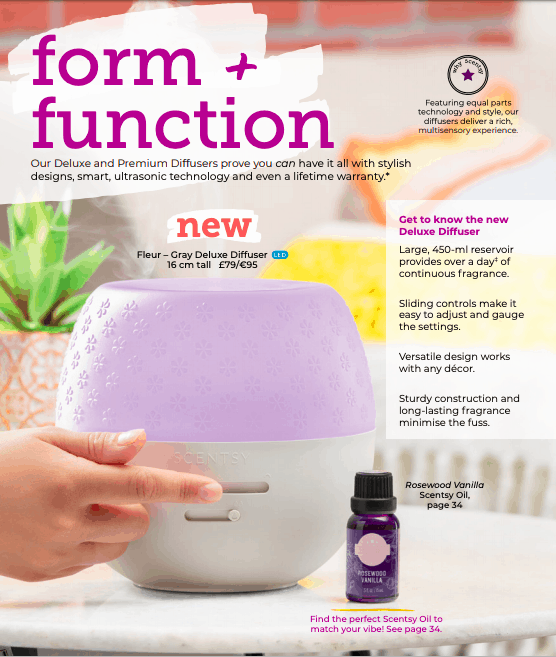 New Deluxe Scentsy Diffuser - Out on Sale February 2020