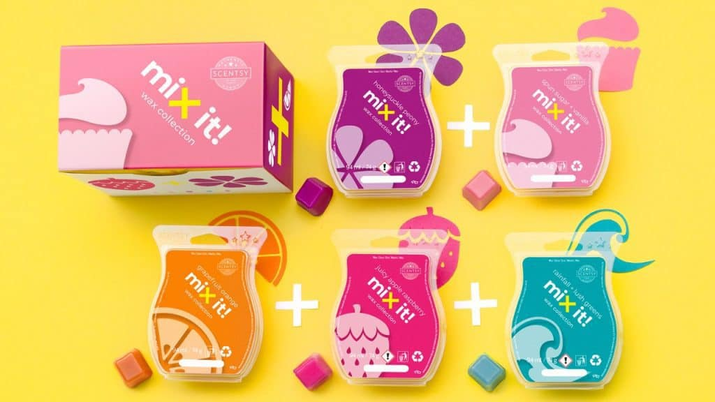 Scentsy Launches Mix It Wax Collections