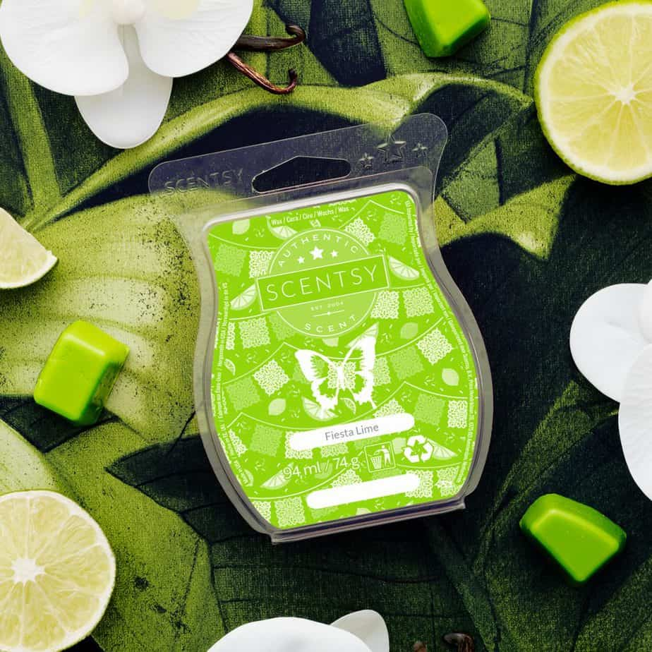 fiesta lime scentsy wax melt bar