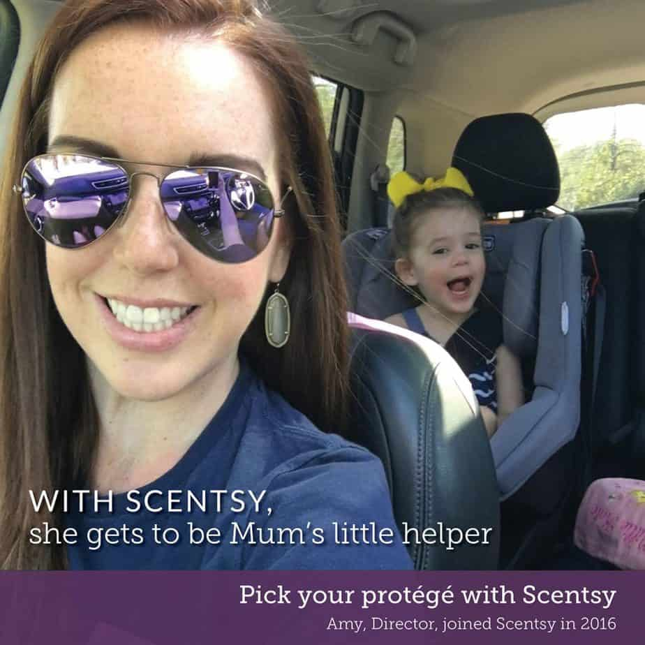 work from home and care for your kids as a Scentsy consultant