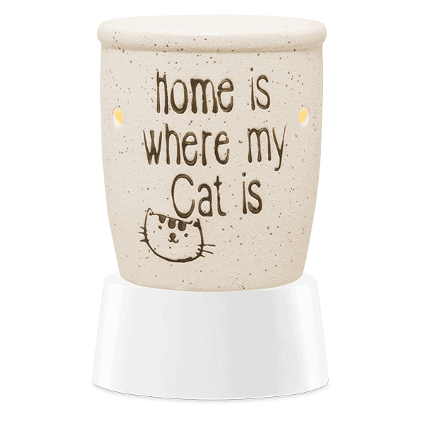 HOME IS WHERE MY CAT IS TABLETOP SCENTSY WAX WARMER