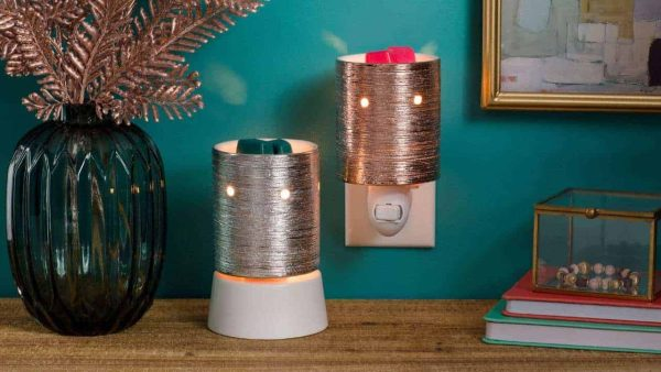 Etched Core – Rose Gold Scentsy Tabletop Mini Warmer